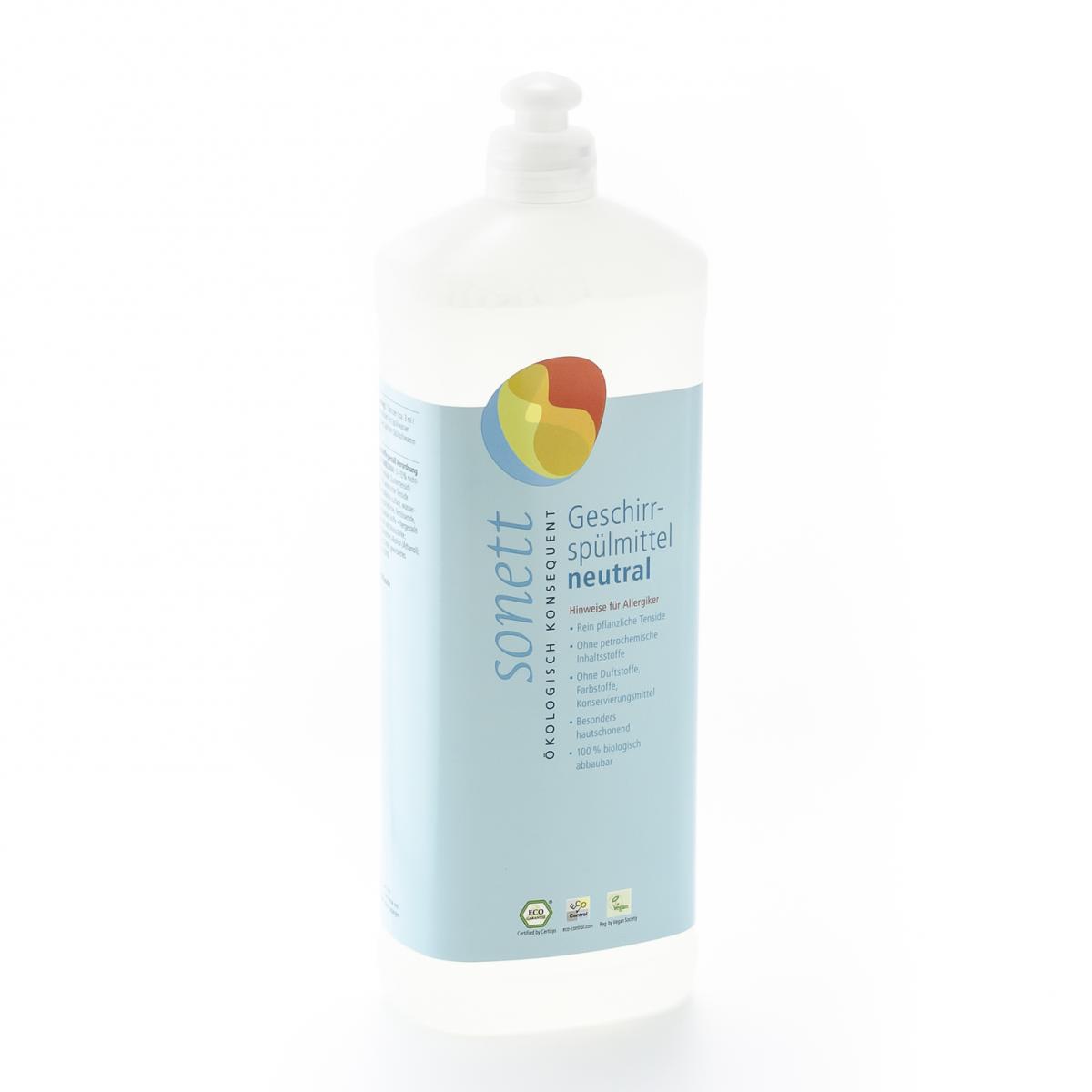 Geschirrspülmittel sensitiv, Nachfüllflasche Flasche 1 l/Plastik Einweg - Sonett