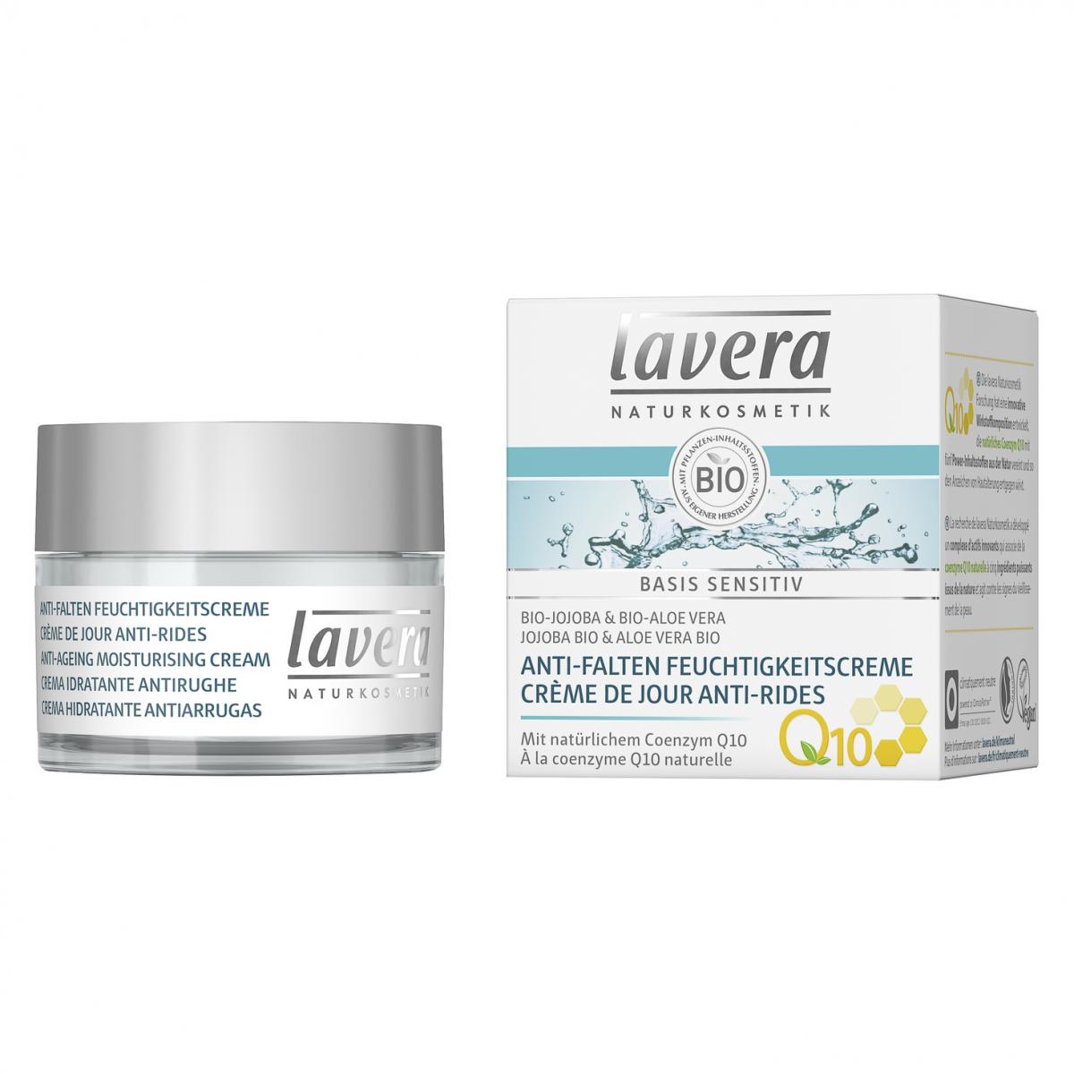 Anti-Falten Feuchtigkeitscreme Q10 basis sensitiv Tiegel 50 ml - Lavera