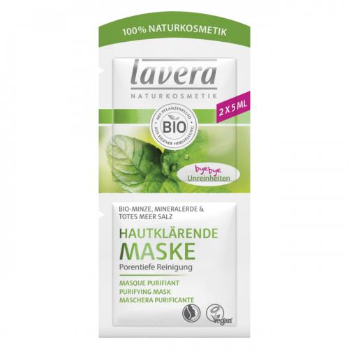 Maske Hautklärend Minze-bye bye Unreinheiten Sachet 2 x 5 ml - Lavera