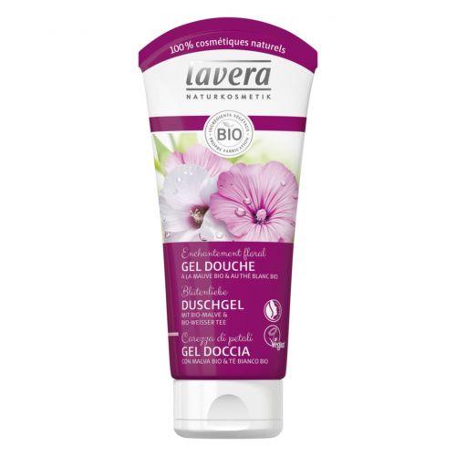 Duschgel bio-Malve & bio-weisser Tee Tube 200 ml - Lavera
