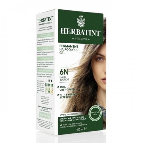 Haarfärbegel 6N Dunkelblond Flasche 150 ml/Plastik Einweg - Herbatint