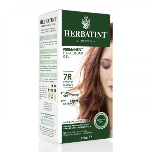 Haarfärbegel 7R Kupferblond Flasche 150 ml/Plastik Einweg - Herbatint