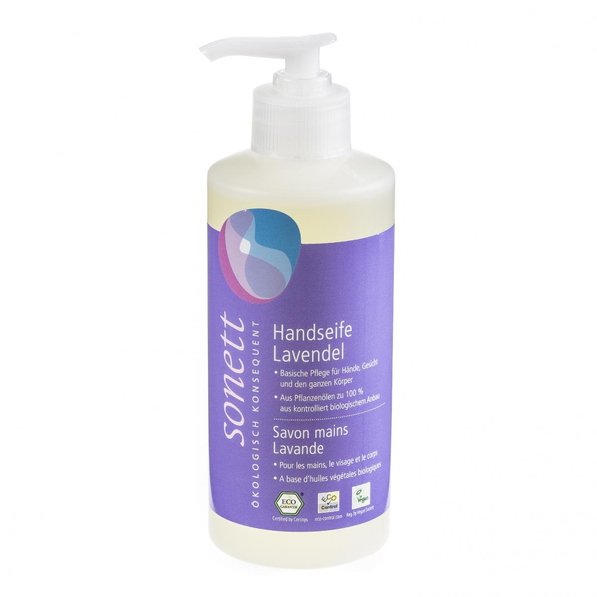 Handseife Lavendel, Pumpspender Flasche 300 ml/Plastik Einweg - Sonett