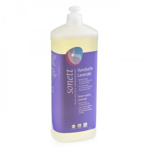 Handseife Lavendel, Nachfüllflasche Flasche 1 l/Plastik Einweg - Sonett