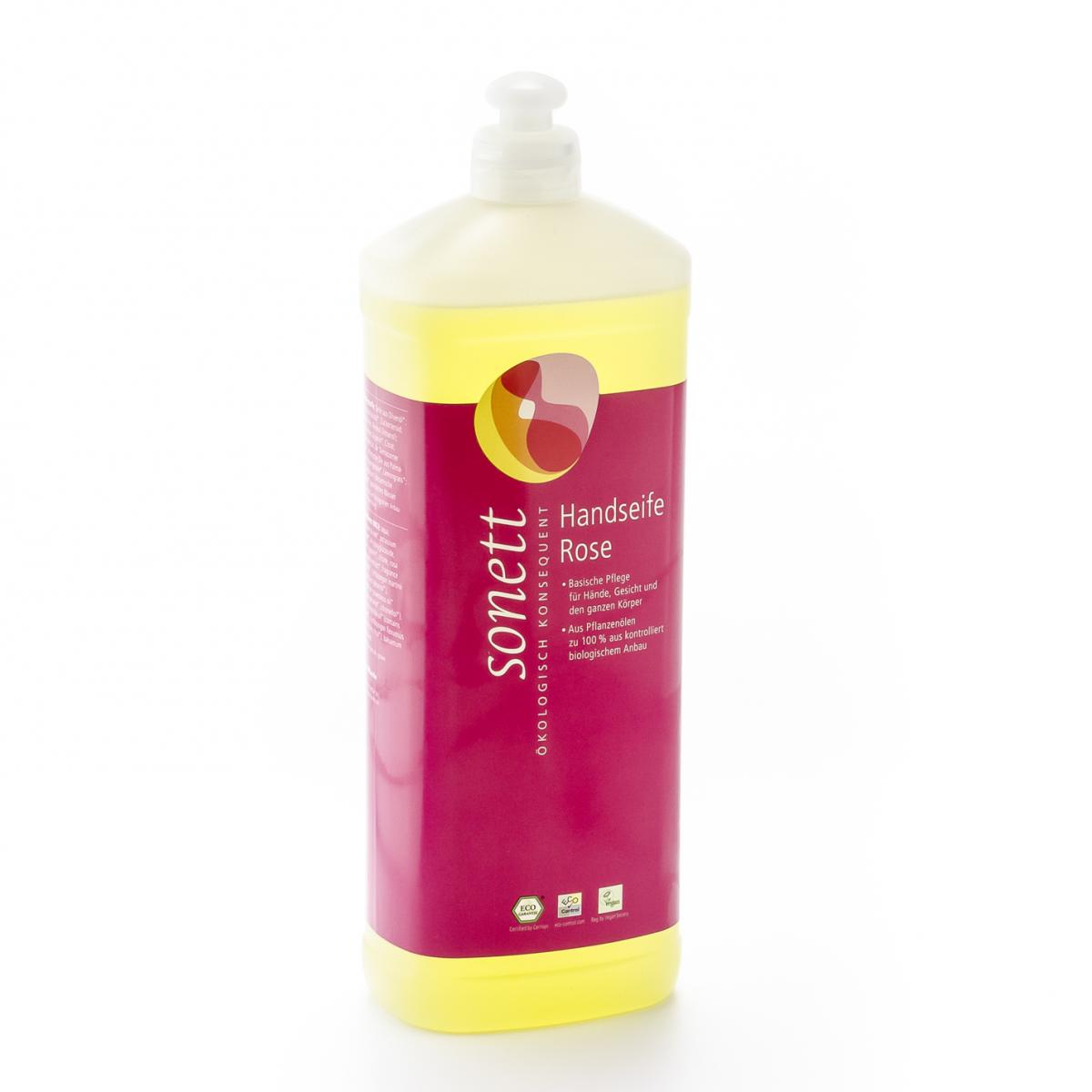 Handseife Rose, Nachfüllflasche Flasche 1 l/Plastik Einweg - Sonett