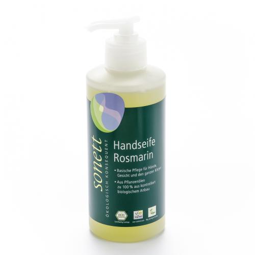 Handseife Rosmarin, Pumpspender Flasche 300 ml/Plastik Einweg - Sonett