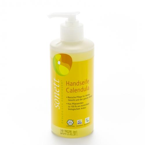 Handseife Calendula, Pumpspender Flasche 300 ml/Plastik Einweg - Sonett
