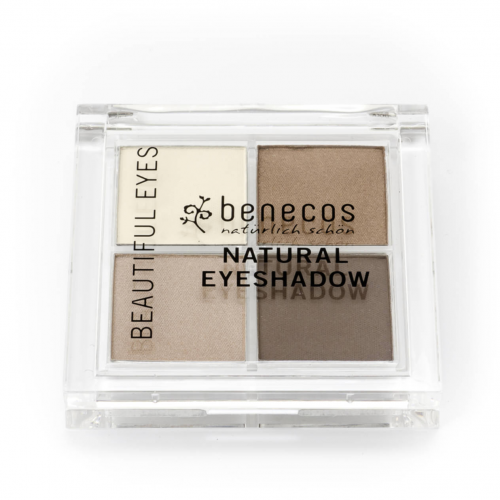 Quattro Eyeshadow coffee & cream Dose 8 g - benecos