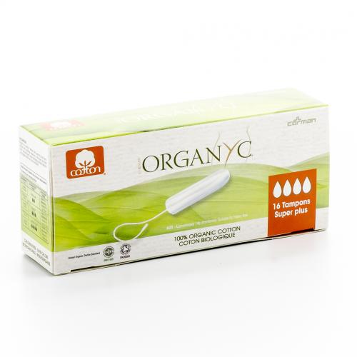 Tampons Super Plus aus 100% biologischer Baumwolle