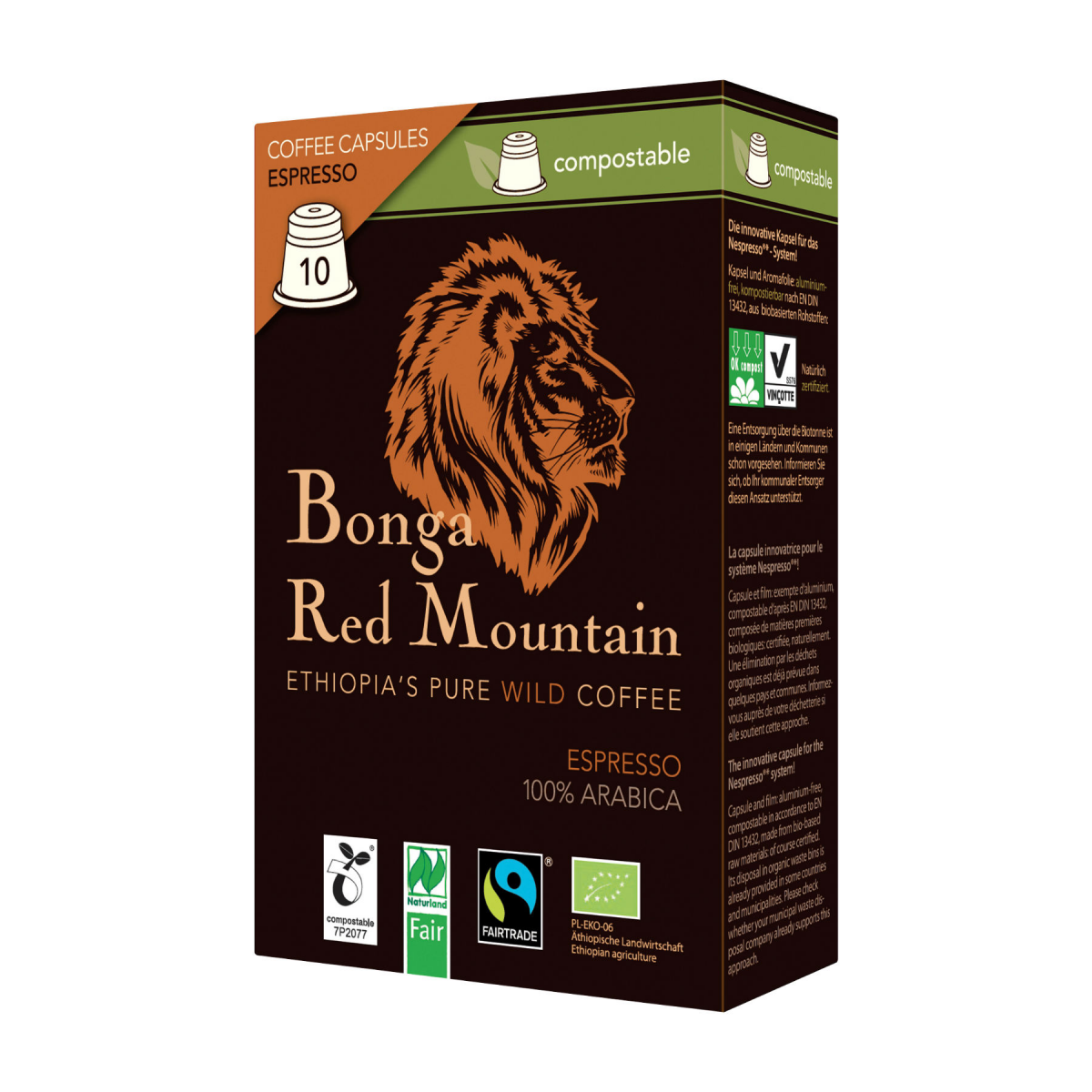 Kaffee Kapseln Espresso Bonga Red Mountain