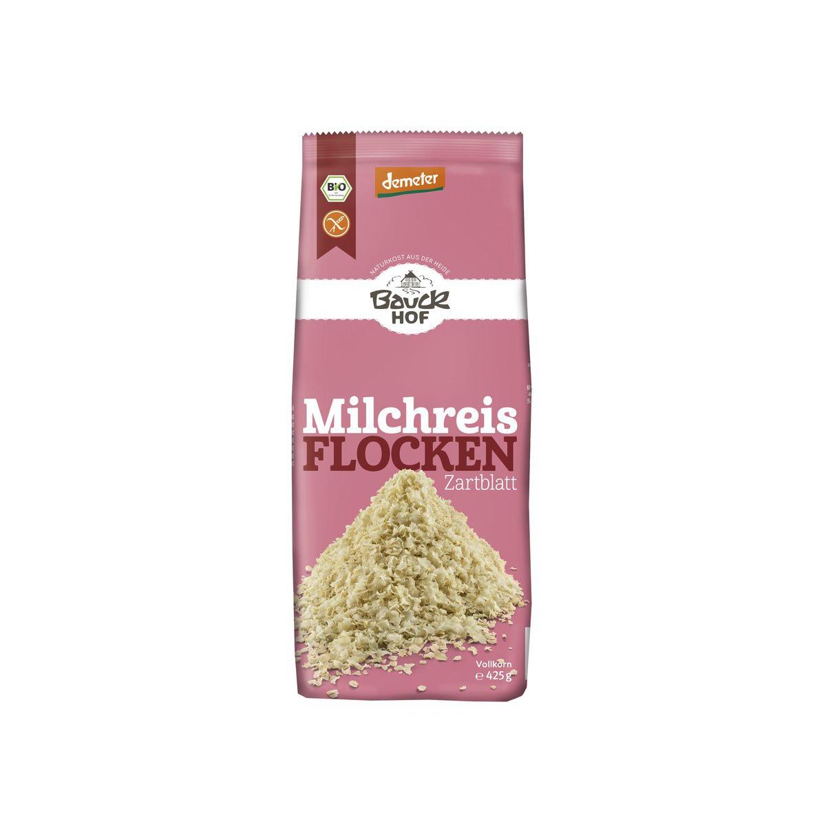Bio Milchreisflocken Bauck glutenfrei