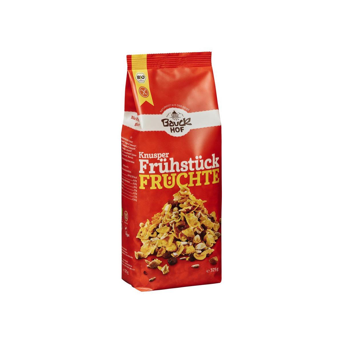 Bio Knusperfrühstück Früchte glutenfrei