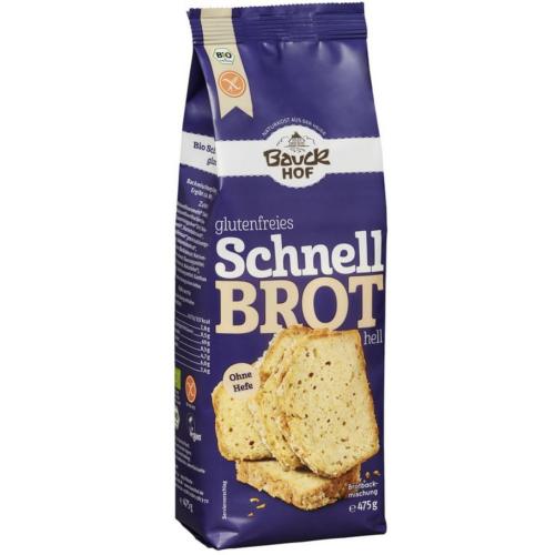 Bio Schnellbrot hell Brotmischung ohne Hefe glutenfrei