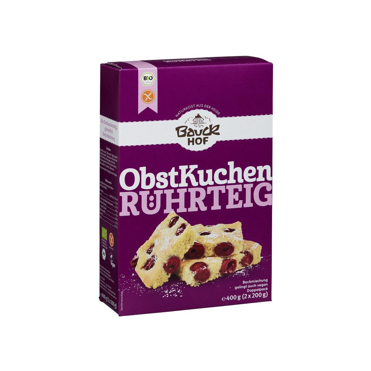 Bio Obstkuchenteit Bauck glutenfrei