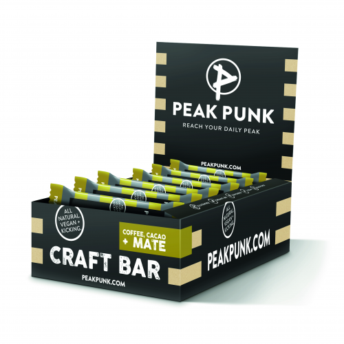 PEAK PUNK Display 15x38g Craft Bar Cacao Coffee