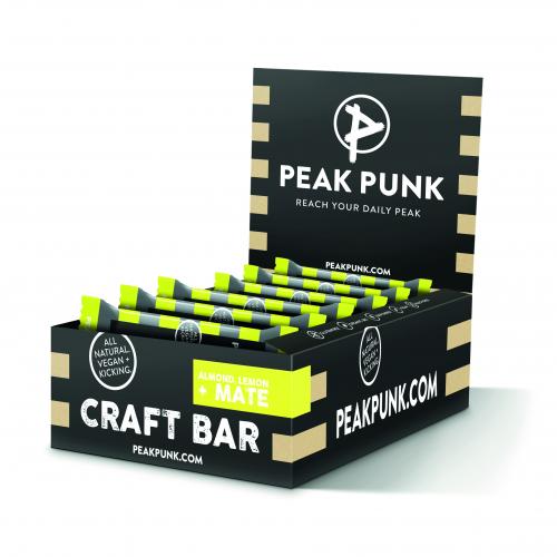 PEAK PUNK Display 15x38g Craft Bar Almond Lemon