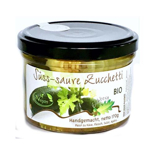 Bio Zucchetti süss-sauer handgemacht 170g