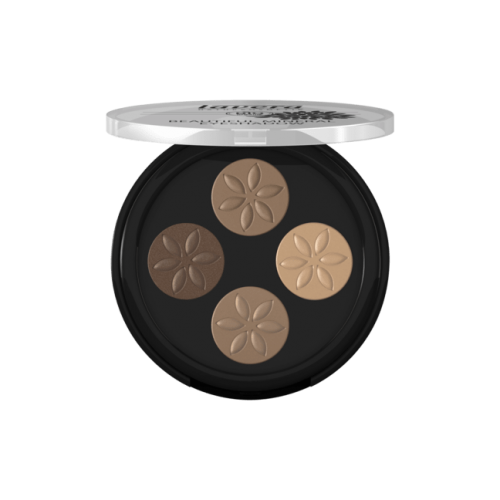 Beautiful Mineral Eyeshadow Quattro -Cappuccino Cream 02-
