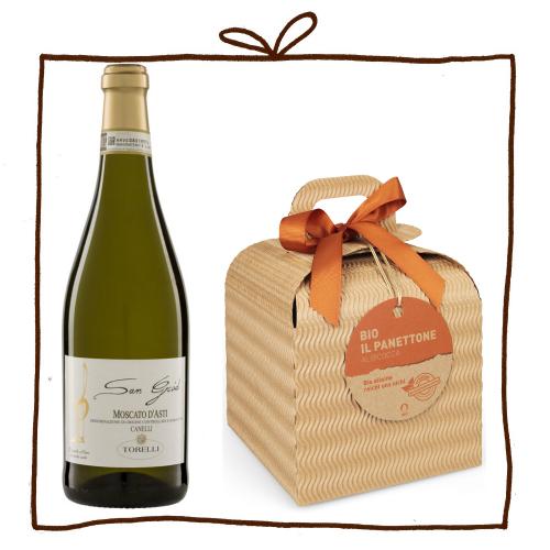 Panettone & Asti Bio-Geschenkset