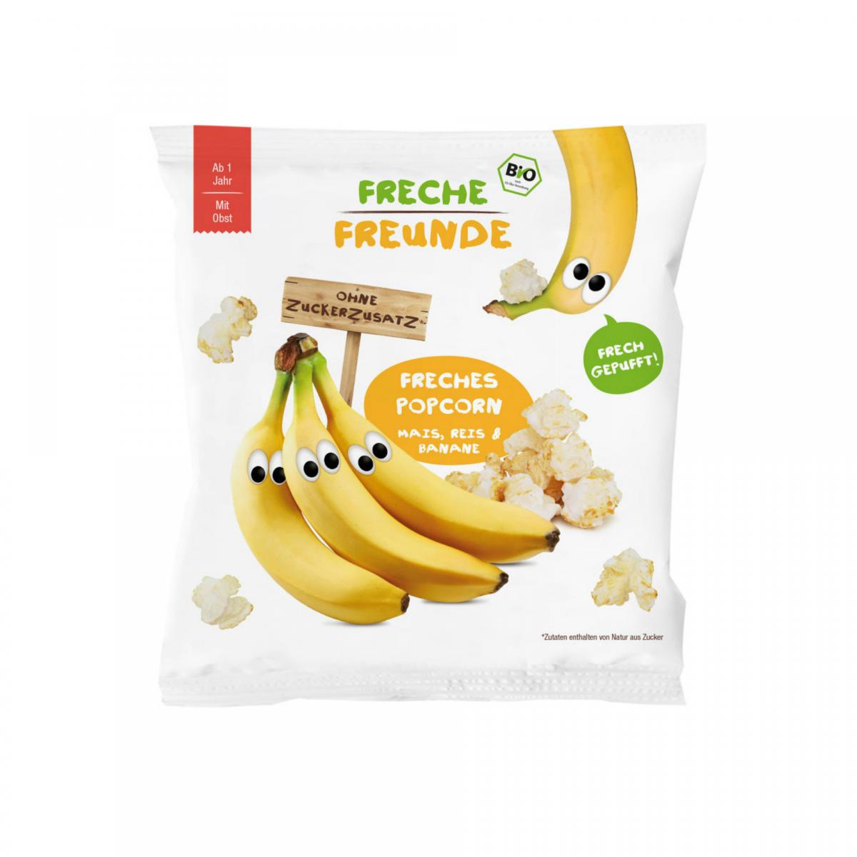 Freches Popcorn Mais, Reis & Banane