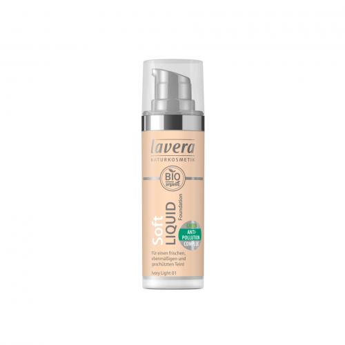 Natural Liquid Foundation -Ivory Light 01- Flasche 30 ml/Plastik Einweg - Lavera