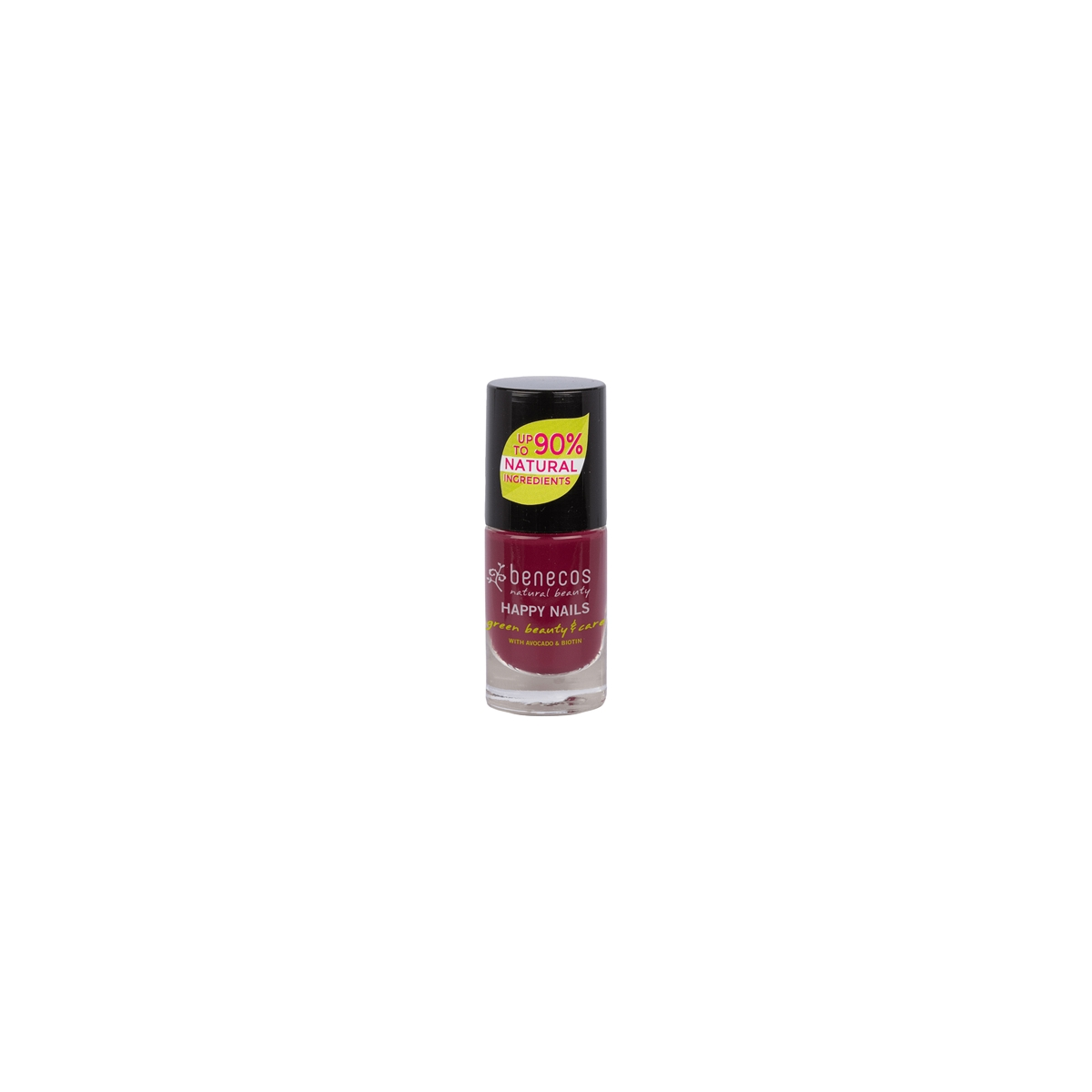 Nail Polish cherry red Flasche 9 ml/Glas Einweg - benecos