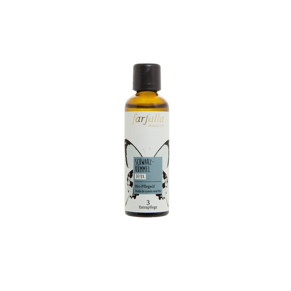 Bio-Schwarzkümmelöl Flasche 75 ml/Glas Einweg - Farfalla
