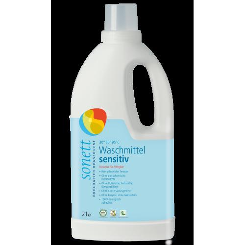 Waschmittel sensitiv 30° 95°C flüssig Flasche 2 l/PET Einweg - Sonett