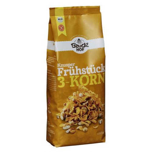Bio Knusperfrühstück 3-Korn glutenfrei