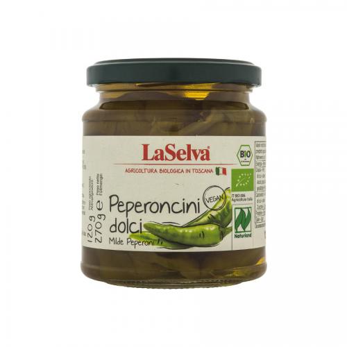 Peperoncini dolci, mild, in Essigsud