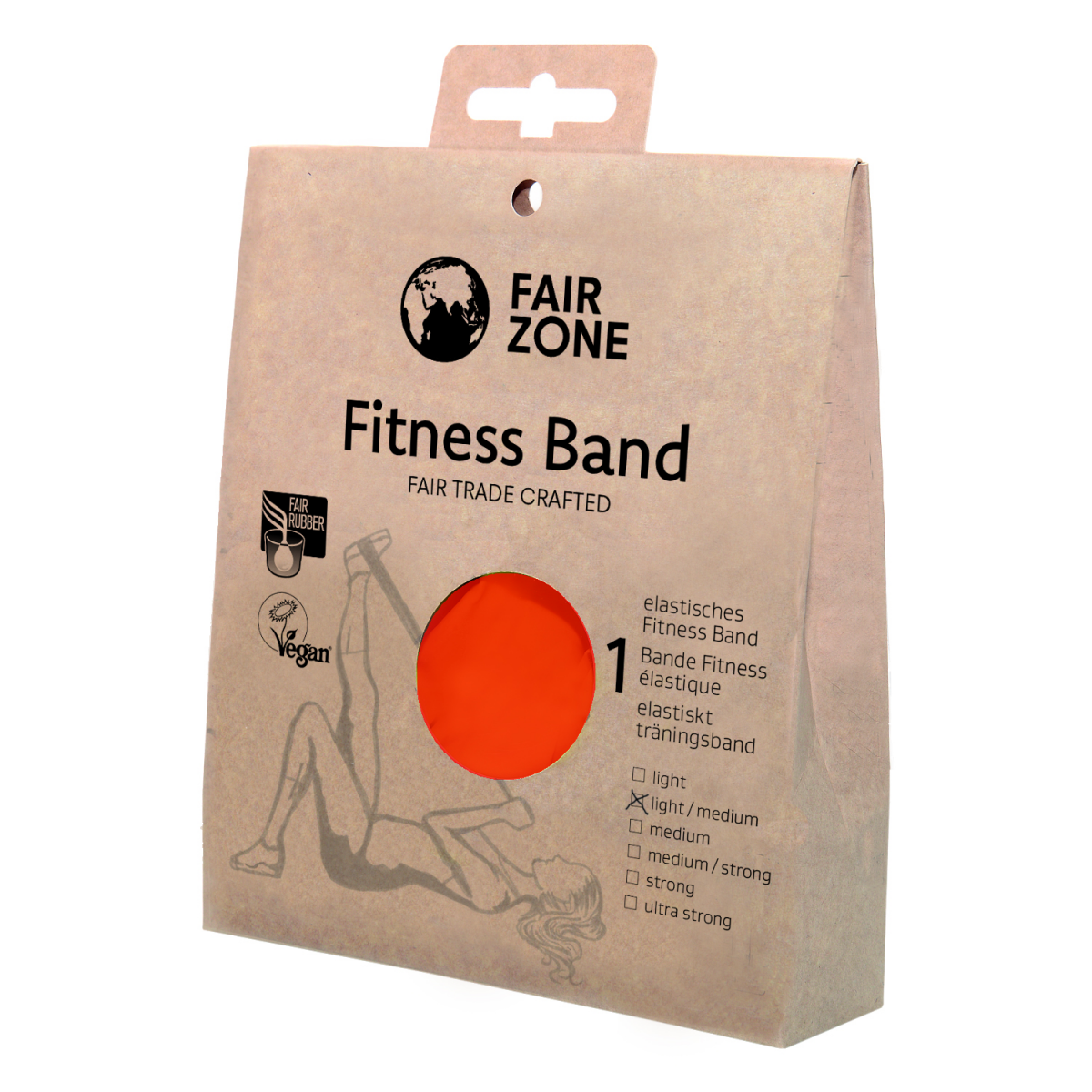 Fitness Band 0.2mm, Naturkautschuk Red