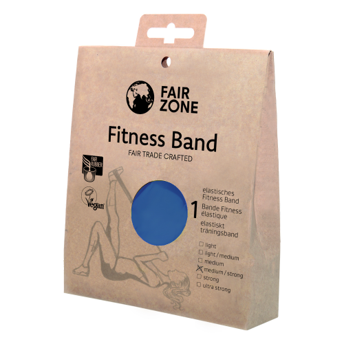 Fitnessband medium-strong 0.3mm, Naturkautschuk Blue