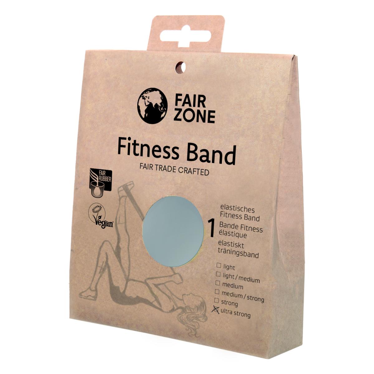 Fitness Band 0.46mm, Naturkautschuk Silver
