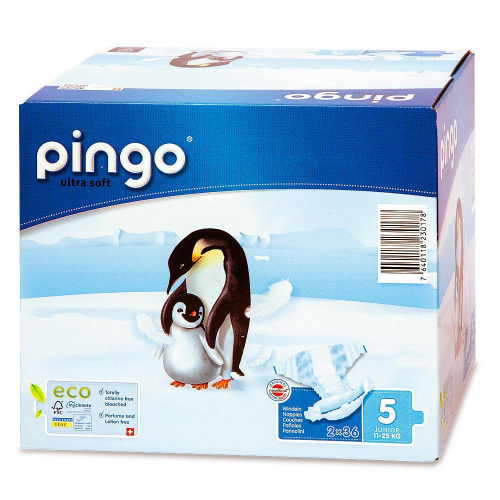 Pingo 5 Öko-Windeln 12-25 kg 72 Stk Multipack
