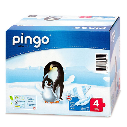 Pingo 4 Öko-Windeln 7-18 kg 80 Stk Multipack