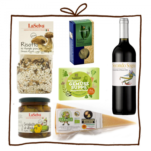 Geschenk- & Kochset Risotto & Grigliata di Verdure