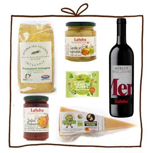 Geschenk- & Kochset Polenta Cipolle in agrodolce