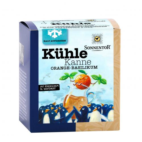 Kühle Kanne Orange-Basilikum Tee