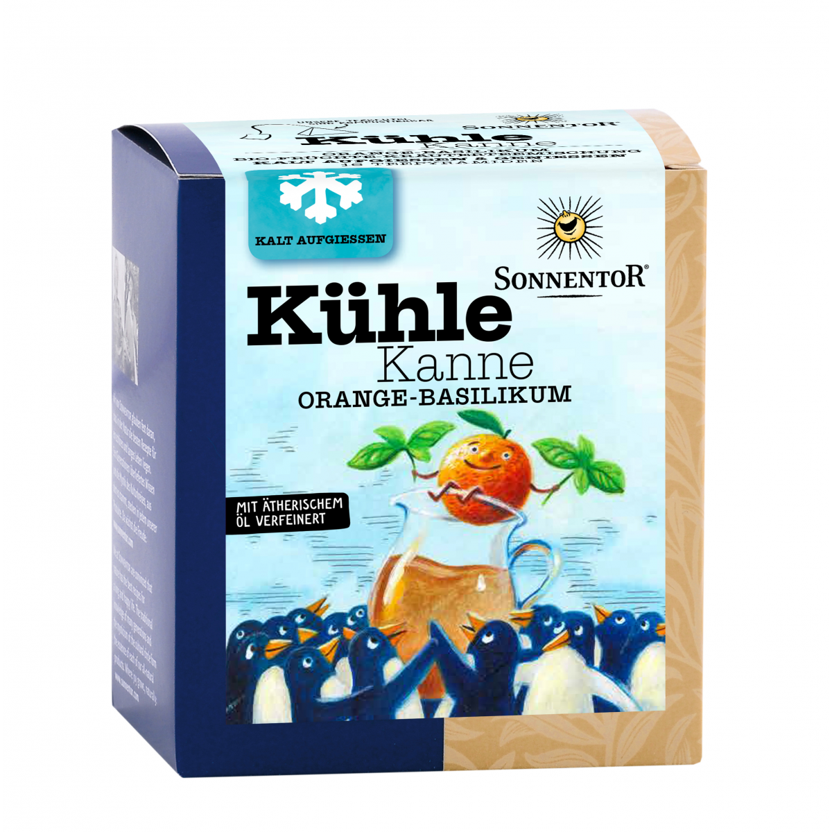 Kühle Kanne Orange-Basilikum Tee
