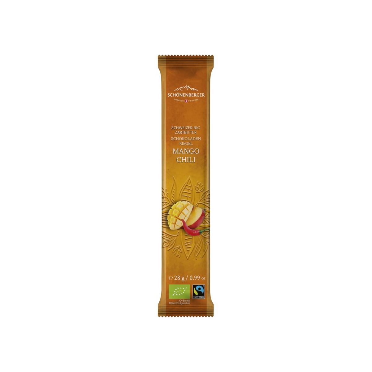 Schoggiriegel Mango Chili