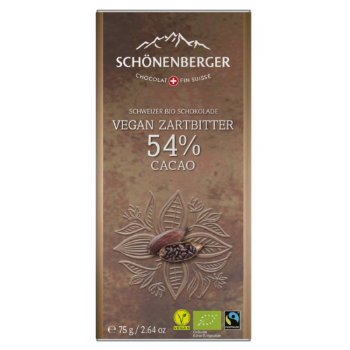 Bio Tafel Schokolade Zartbitter 54% Kakao