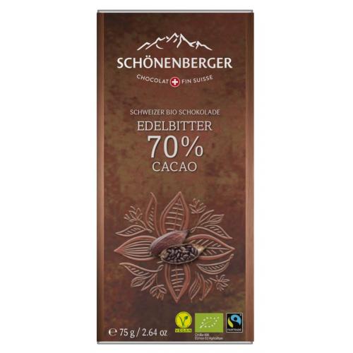 Bio Tafel Schokolade Edelbitter 70% Kakao