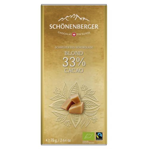 Bio Tafel Schokolade Blond 33% Kakao
