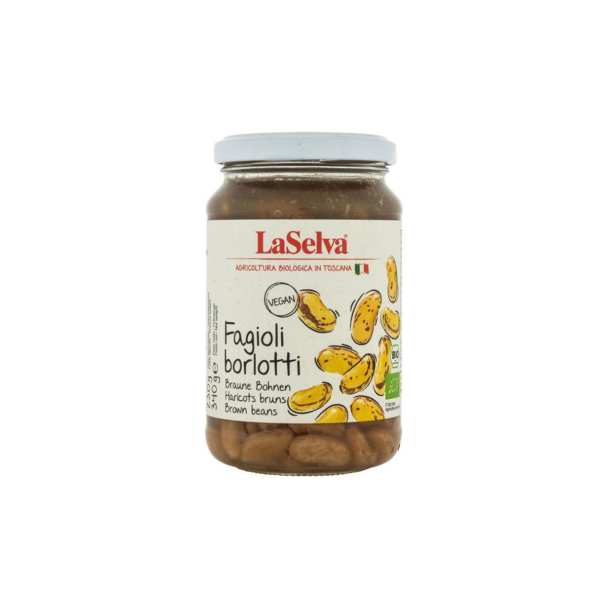 Braune Bohnen Borlotti gekocht