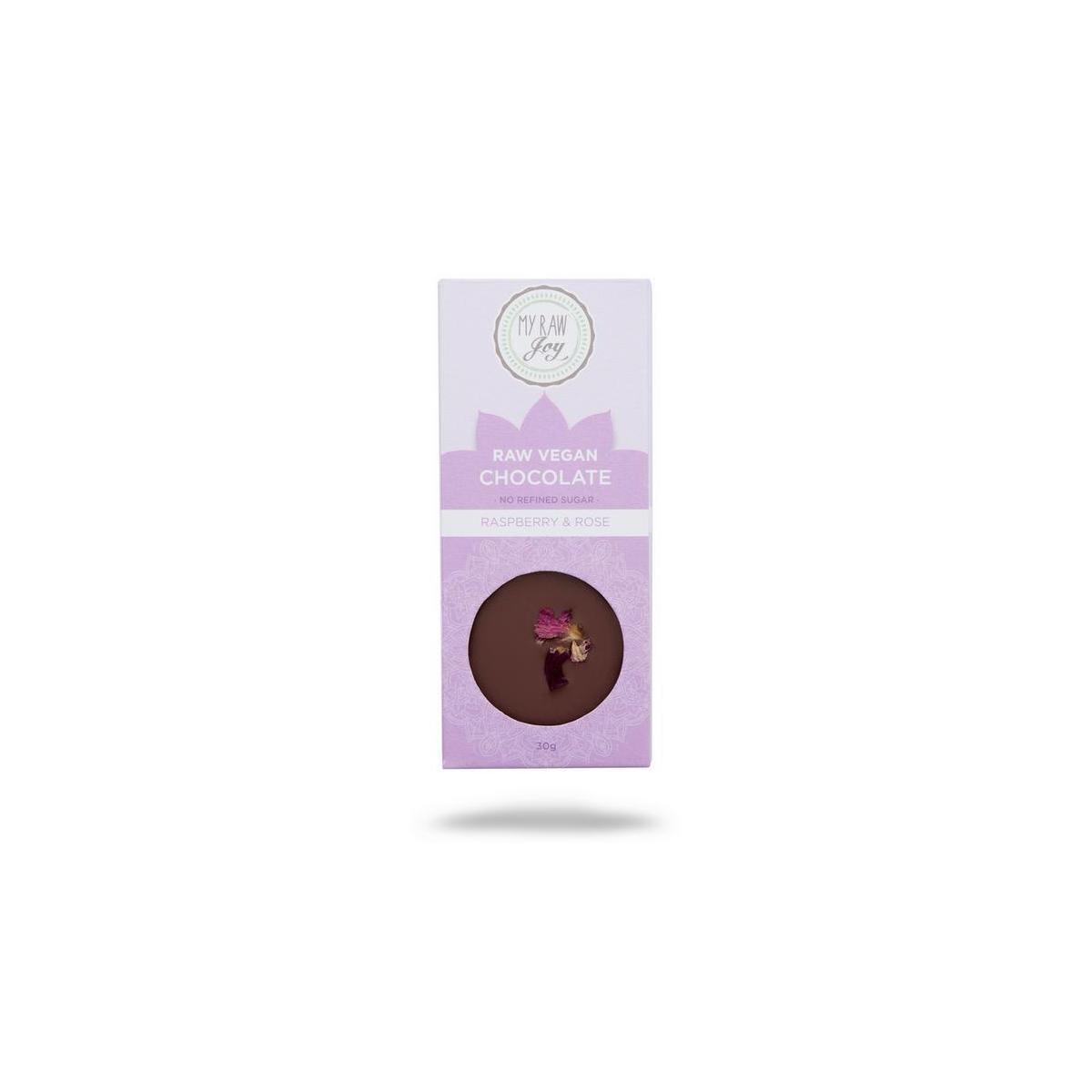 Raw Chocolate Raspberry & Rose 30g