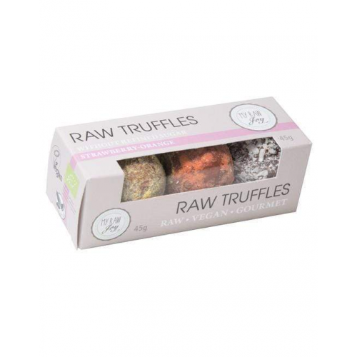 Raw Choco Truffles Strawberry Orange