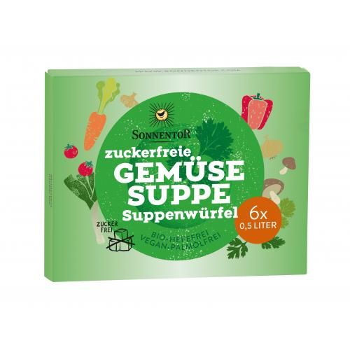 Zuckerfreie Gemüsesuppe Suppenwürfel