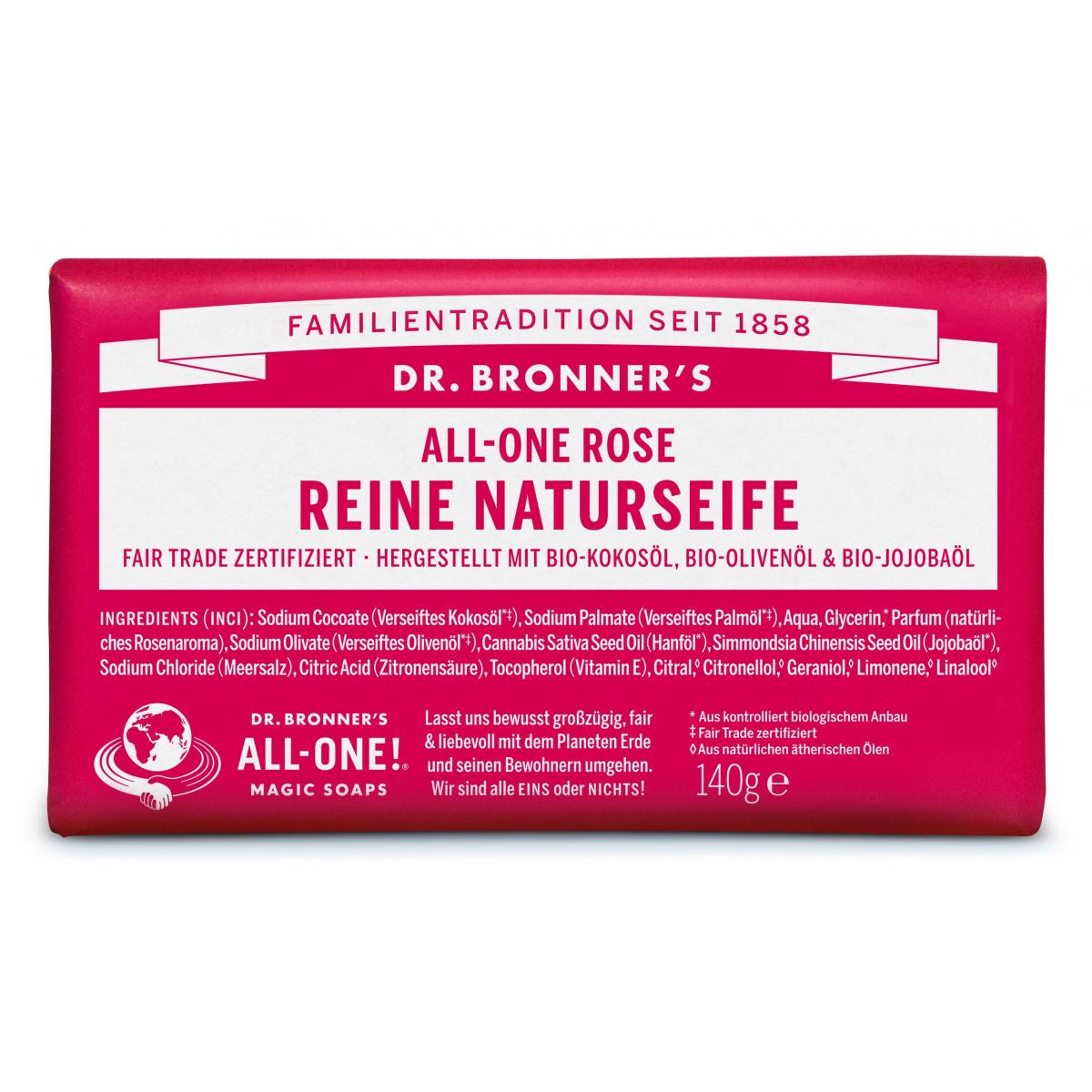 Dr. Bronner Seife Rose