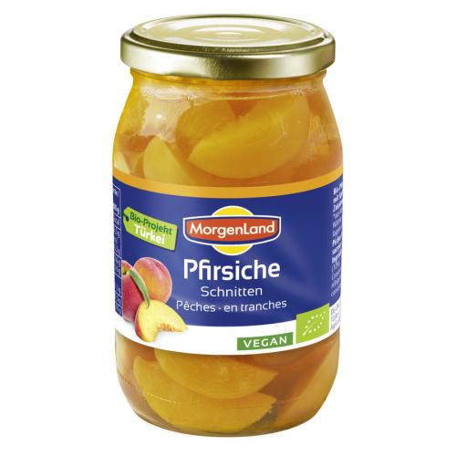 Bio Pfirsich Schnitze