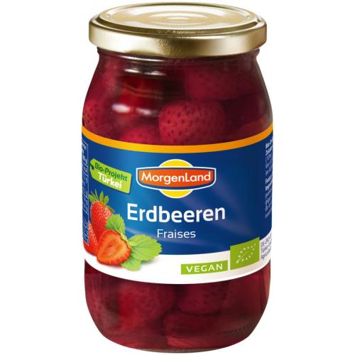 Bio Erdbeeren eingemacht